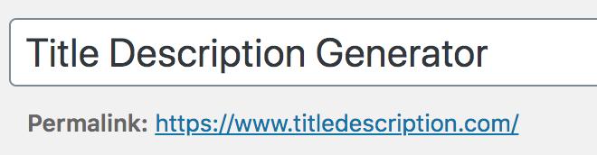 Creative title generator for SEO tips