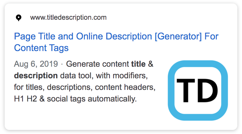 Time saving title generator creates meta tags